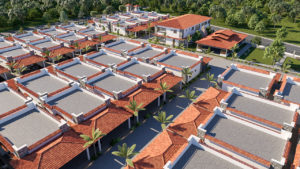 Birds eye view of NNRC senior citizen homes