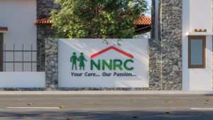Entrance Nameboard view at NNRC senior citizen homes