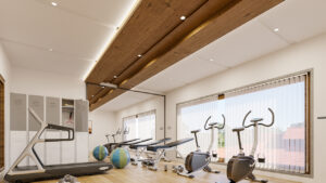 Gym at NNRC retirement homes in coimbatore