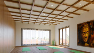 Yoga room at NNRC retirement homes in coimbatore