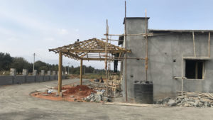 Builing work progress at NNRC senior citizen homes also know as NNRC retirement homes in coimbatore